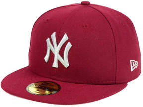 New Era New York Yankees Cardinal Gray 59FIFTY Cap