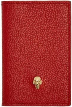 Alexander McQueen Red Skull Pocket Organizer