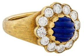 Buccellati 18K Diamond & Lapis Cocktail Ring