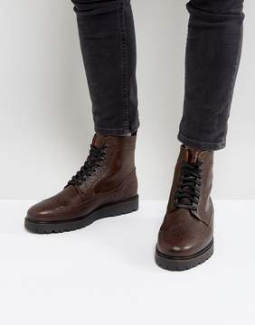 Fred Perry Northgate Scotchgrain Leather Boots in Brown