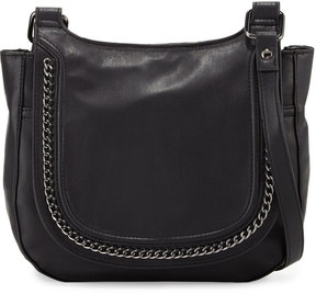 French Connection Alexa Faux-Leather Messenger Bag, Black
