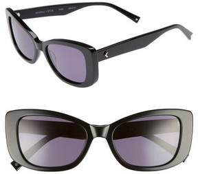 KENDALL + KYLIE Women's 53Mm Cat Eye Sunglasses - Black/ Black