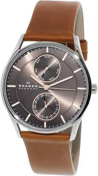 Skagen Men's SKW6086 Holst Leather Watch, 39mm
