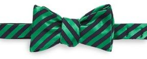 Ike Behar Striped Silk & Cotton-Blend Bow Tie