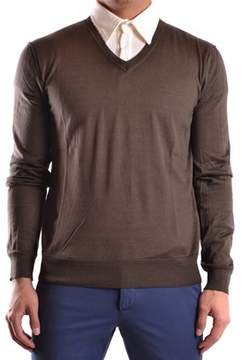 CNC Costume National Men's Brown Cotton Sweater.