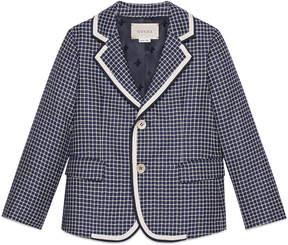 Gucci Children's check wool jacket