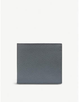 Smythson Panama leather 6 card wallet