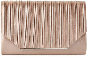Jessica McClintock Champagne Pleated Satin Alexis Clutch