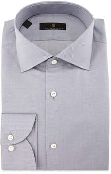 Ike Behar Gold Label Milano Mini-Houndstooth Dress Shirt, Gray