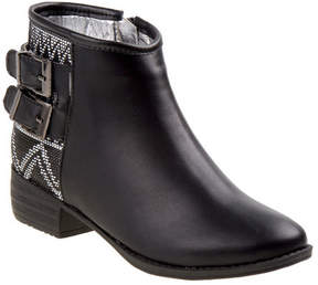 Nanette Lepore Girls' NL20379B Embroidered Buckle Bootie