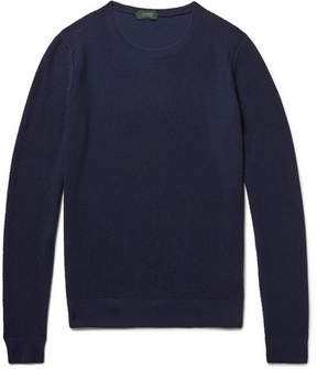 Incotex Honeycomb-Knit Virgin Wool-Blend Sweater