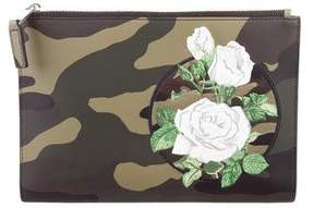 Christian Dior Embroidered Leather Pouch