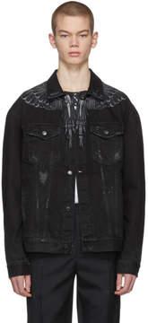 Marcelo Burlon County of Milan Black Denim Wing Jacket