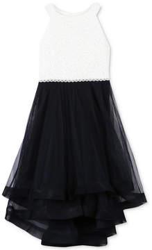 Speechless Big Girls Glitter Lace-Bodice Dress