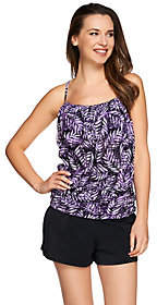 Fit 4 U Batik Leaves Mesh Blouson Tankini Swimsuit