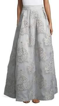 Eliza J Textured Floral Ball Skirt