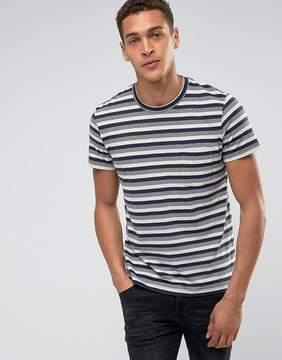 Esprit T-Shirt With Multi Fleck Stripe Detail