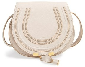 Chloé 'Mini Marcie' Leather Crossbody Bag - White