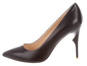 Jerome C. Rousseau Leather Pointed-Toe Pumps w/ Tags