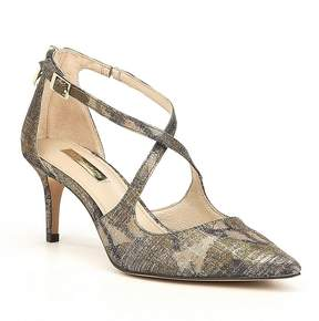 Louise et Cie Jena Brocade Criss Cross Pointed-Toe Pumps