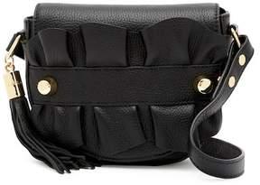 Milly Astor Small Ruffle Crossbody Saddle Bag