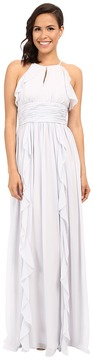 Donna Morgan Skye Cutaway Halter Gown Women's Dress