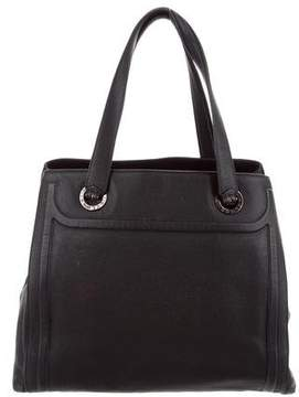 Bvlgari Grained Leather Tote