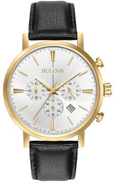 Bulova Men's Classic Leather Chronograph Watch - 97B155