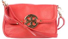 Tory Burch Leather Amanda Crossbody Bag - ORANGE - STYLE