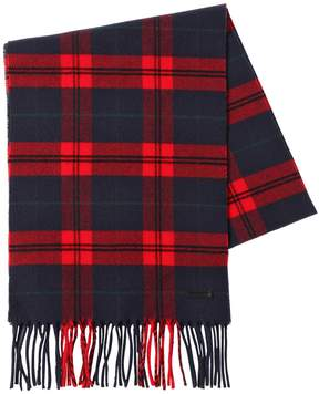 DSQUARED2 Checked Wool & Cashmere Scarf