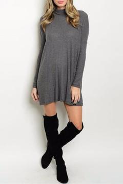 Cherish Gray Ribbed Dress