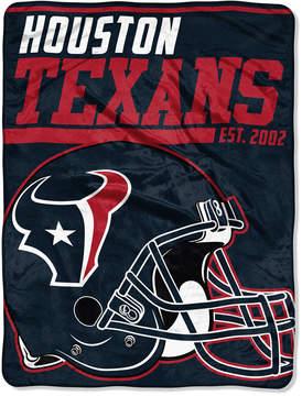 Northwest Company Houston Texans Micro Raschel 46x60 40 Yard Dash Blanket