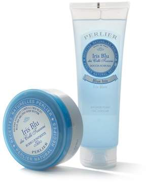 Perlier Blue Iris 2-piece Shower Foam & Body Butter Kit