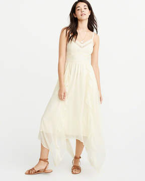 Abercrombie & Fitch Lace-Pieced Maxi Dress