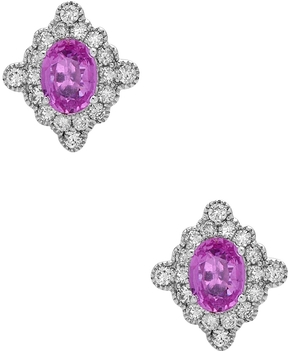Artisan Women's Sapphire Earrings with Diamonds