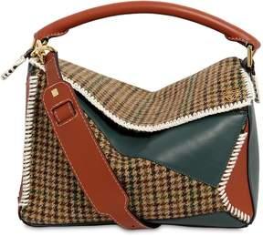 Loewe Medium Puzzle Tweed & Leather Bag