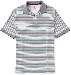 Daniel Cremieux Club 38 Performance Stripe Jersey Stretch Short-Sleeve Polo Shirt