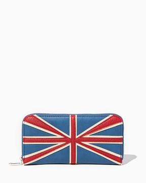 Union Jack Zip Around Wallet