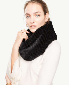 Ann Taylor Ribbed Faux Fur Snood