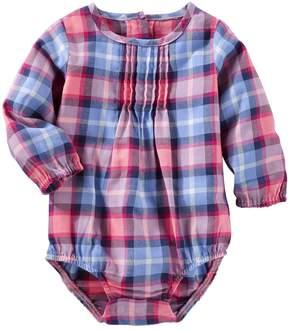 Osh Kosh Oshkosh Bgosh Baby Girl Plaid Bodysuit