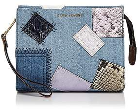 Marc Jacobs Denim Patchwork Clutch - DENIM MULTI/GOLD - STYLE
