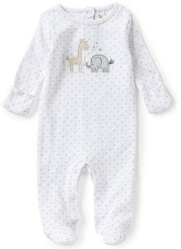 Starting Out Baby Boys Newborn-6 Months Animal-Appliqu Star Print Footed Coverall