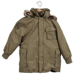 Ikks Boys' Mission V-1 Layered Coat