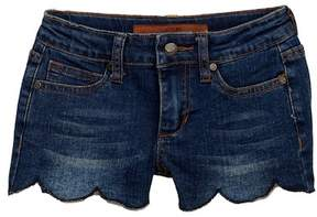 Joe's Jeans Mid Rise Scallop Hem Stretch Shorts (Little Girls)