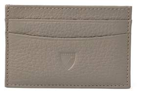 Aspinal of London Slim Credit Card Case In Warm Grey Pebble