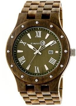 Earth Inyo Collection ETHEW3204 Unisex Wood Watch with Wood Bracelet-Style Band