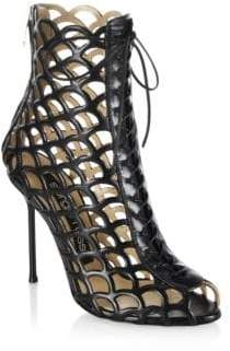 Sergio Rossi Mermaid Lace Up Booties