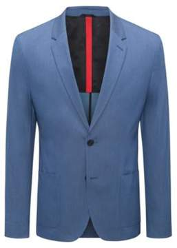HUGO Boss Slim-fit blazer in a yarn-dyed stretch-cotton 38R Turquoise