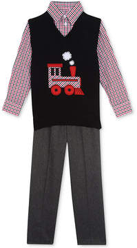 Nautica 3-Pc. Sweater Vest, Shirt & Pants Set, Toddler Boys (2T-5T)