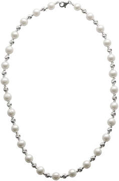 Brilliance+ FINE JEWELRY Cultured Freshwater Pearl & Brilliance Bead Sterling Silver Necklace